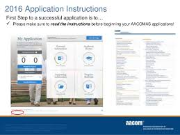 Aacomas Letter Of Recommendation 2019 Aacomas Application Instructions