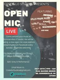 Open Mic Live - 28 JUL 2019