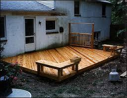 building a ground level deck plans