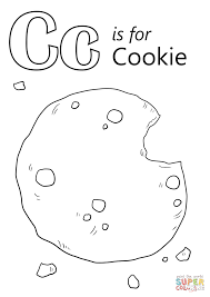 Small Picture Letter C is for Cookie coloring page Free Printable Coloring Pages