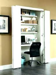 home office in closet. Contemporary Closet Office In A Closet Ideas Walk Desk    Intended Home Office In Closet