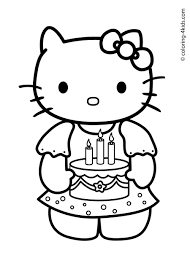 21 Hello Kitty Happy Birthday Coloring Pages Celebrations ...