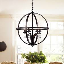 aleesh 20 inch oil rubbed bronze 4 light globe chandelier with removable crystals