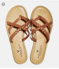 shoes american eagle outfitters braided sandal leather brown cute sandals