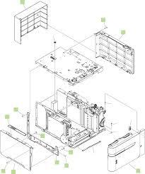 Figure 8 19 optional 1 500 sheet paper feeder covers