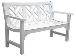 white garden bench. Wonderful White Unique White Wooden Bench Outdoor Garden  Chippendale C612 03 Throughout