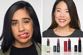 diffe shades of red lipstick look