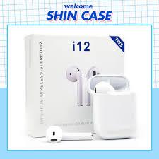 Tai Nghe Bluetooth Không Dây inpods i12 TWS Combo Vỏ ốp lưng Case Airpod  Airpods Pro 1 2 Iphone - Shin Case giá cạnh tranh