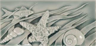 Decorative Relief Tiles SLA Ocean Border B 100x100 Pratt Larson 21