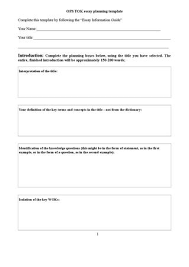 theory of knowledge by richard glover issuu tok essay planning template