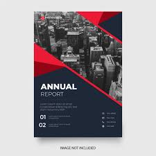 Annual Report Templates Free Download Modern Annual Report Template With Red Shapes Vector Free
