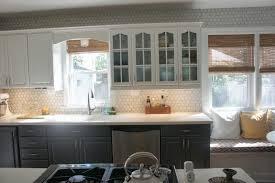 White Kitchen Tiles Remodelaholic Gray And White Kitchen Makeover With Hexagon Tile