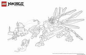 Coloring Pages Free Printable Elegant Dragon Ninja Enemy Lego Ruva