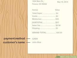 A Receipt 3 Ways To Write A Receipt Wikihow