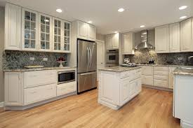White Kitchen Wooden Floor Kitchen Remodel White Cabinets Pictures Outofhome