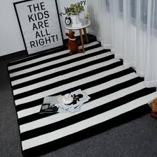 fashion mat black and white striped design carpet rugs for home living room carpet mat bedroom bedroom ttatami children nylon carpet s ing carpets