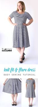 Fit And Flare Dress Pattern Cool Sew The Perfect Knit Fit Flare Dress Without A Pattern It's
