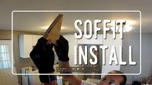 Installing Soffit Above Kitchen Cabinets Youtube