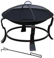 hampton bay round steel fire pit outdoor heating patio furniture 24 in