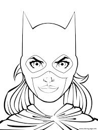 Fine Decoration Batgirl Coloring Pages Supergirl Printable