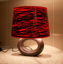 red lamp shades pixball