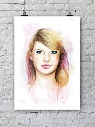 Small Picture Taylor Swift Portrait in Colour Leona Beth Pearsons Portfolio