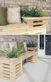 Diy Wood Crate Outdoor Bench