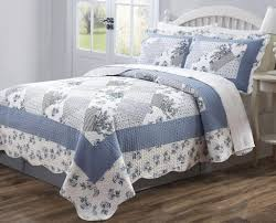 Best Blue Quilts and Coverlets – Ease Bedding with Style & 3 PCS Quilt Bedspread Coverlet Blue and White Floral Patchwork Design High  Quality Microfiber Full Size Adamdwight.com