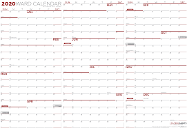 2020 Yearly Ward Calendar Leading Saints