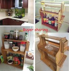 wooden kitchen table e rack diy wood shelf portable storage