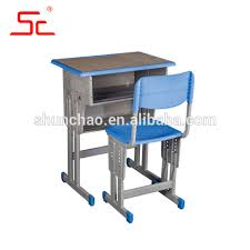 adjule single student desk and chairs for school sets