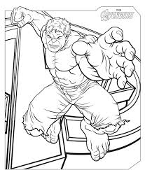 Avengers Coloring Pages With Avengers The Hulk Page L