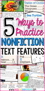 5 Ways To Practice Nonfiction Text Features Raise The Bar