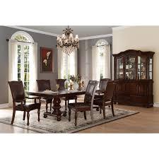 mazin lordsburg dark cherry wood 7 piece dining set 5473