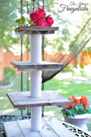 tiered wooden whitewashed wedding cake cupcake stand
