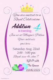 children party invitation templates royal birthday girl party invite template postermywall