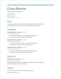 Modern Nurse Resume Format Word 45 Free Modern Resume Cv Templates Minimalist Simple
