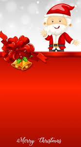 Santa And Bells On Christmas Card Template Download Free