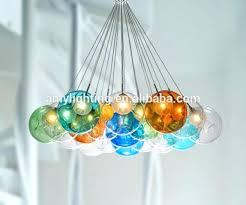 colored glass chandelier drops astonishing colorful modern hand blown lighting pendants pendant light bubble led home