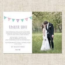 personalised wedding thank you cards tree of hearts Wedding Thank You Bunting Uk bellas bunting thank you postcard add your own photo Succulent Thank You Bunting