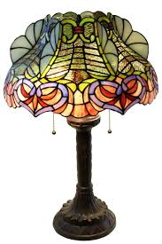 Ophelia Tiffany Style 16 Inch 1 Light Geometric Table Lamp Warehouse Of Tiffany 2185 Bb565 Zohndra 2 Light Abstract Stained Glass 16 5 Inch Table Lamp