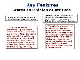 a road map for your essay ppt video online key features states an opinion or attitude