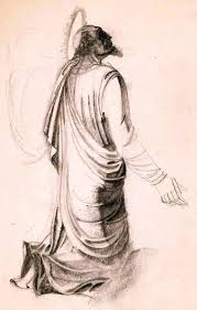 Drapery Drawing Drawing Saints And Drapery Charles Paine A R C A