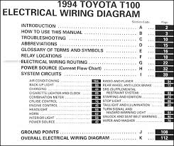 toyota t100 wiring diagram toyota image wiring diagram 1994 toyota t100 truck wiring diagram manual original supplement on toyota t100 wiring diagram