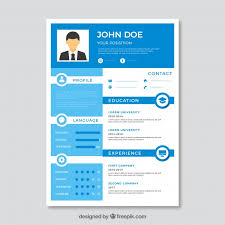 blue modern resume template modern blue and white cv template vector free download