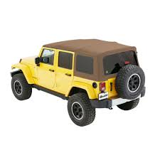 bestop soft top supertop nx oak tan twill 4 door jeep wrangler jk 2007