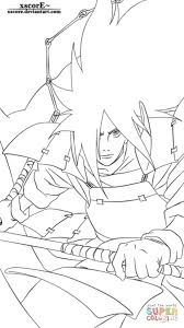 Small Picture Madara Cartoon Coloring Page Cartoon Naruto Coloring Pages