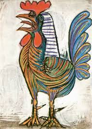 pablo picasso rooster art admirer picasso  a rooster 1938 pablo picasso rooster for a chicken