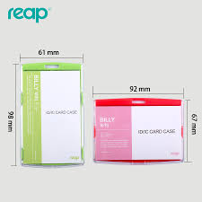 identity card size id card holder acrylic badges passport ic work permit card name tag