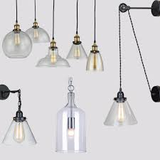 Retro Industrial Globe Loft Cafe Round Glass Ceiling Pendant Light Lamp Shade Buy Clear Glass Pendant Shadeindustrial Glass Pendant Lamp